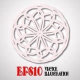 Decorative snowflake, mandala. Vintage decor of paper. Mandala. Vector Eps10 Stock Photos