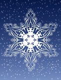 Decorative Snowflake Ornament Vector. Decorative Snowflake Ornament, Modern Christmas Illustration Vector Design Royalty Free Stock Photo
