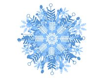 Decorative Snowflake Pattern Stock Photo
