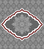 Decorative snowflake set on background pattern Stock Photo