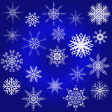 Decorative snowflake winter set Royalty Free Stock Image
