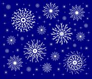 Decorative snowflakes Royalty Free Stock Image