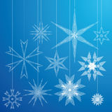 Decorative snowflakes Royalty Free Stock Photos