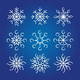 Decorative Snowflakes collection. Royalty Free Stock Photo