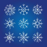 Decorative Snowflakes collection. Royalty Free Stock Image