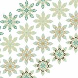 Decorative snowflakes pattern Royalty Free Stock Photo