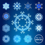 Decorative snowflakes set. Stock Photography