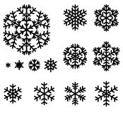 Decorative snowflakes set Royalty Free Stock Images
