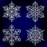 Decorative snowflakes Royalty Free Stock Images
