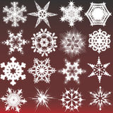 Decorative snowflakes. Vector illustration Royalty Free Stock Images