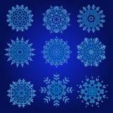 Decorative Snowflakes Vector Set Royalty Free Stock Photography