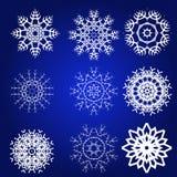 Decorative Snowflakes Vector Set Stock Images