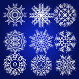 Decorative Snowflakes Vector Set Royalty Free Stock Images