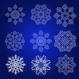 Decorative Snowflakes Vector Set Royalty Free Stock Photo