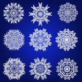 Decorative Snowflakes Vector Set Stock Photos