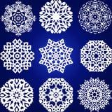 Decorative Snowflakes Vector Set Royalty Free Stock Photos