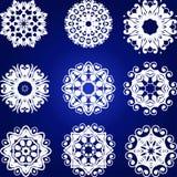 Decorative Snowflakes Vector Set Stock Image