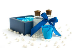 Decorative soap and shampoo Stock Images