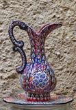 Decorative souvenir Hand drawn wine pitcher decoration. Stock Photos