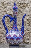 Decorative souvenir Hand drawn wine pitcher decoration. Stock Photos