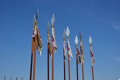 Decorative spears. As a street embellishment stock photography