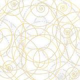 Decorative spirals composition. Decorative composition with golden spirals Stock Illustration