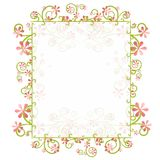 Decorative Spring Floral Border Frame. A background illustration featuring a decorative spring pink floral border with simple details as a frame or border vector illustration