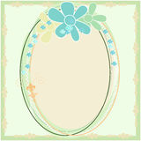 Decorative Spring Floral Border Frame Royalty Free Stock Photography