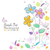 Decorative spring flowers abstract greeting card Royalty Free Stock Images
