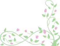 Decorative spring tree. Vector drawing of a decorative tree branch Stock Image