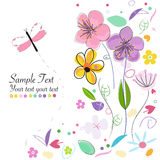 Decorative springtime abstract background greeting card Stock Photo