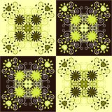 Decorative square background Stock Photo