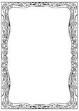 Decorative  square a4 format coloring page frame isolated on white Stock Image