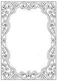 Decorative  square a4 format coloring page frame isolated on white. Decorative abstract square a4 format coloring page frame isolated on white Stock Image