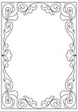 Decorative  square a4 format coloring page frame isolated on white Stock Images