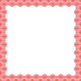 Decorative square frame with abstract ornament on background. Ethnic border. Layout for your design with place for text Royalty Free Stock Image