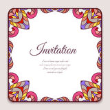 Decorative square frame Royalty Free Stock Images