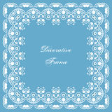 Decorative square frame Royalty Free Stock Image