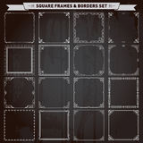 Decorative square frames and borders royalty free illustration