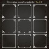 Decorative square frames and borders set 10 vector royalty free illustration