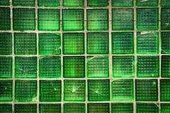 Decorative green glass blocks. Decorative square green glass blocks Royalty Free Stock Photography