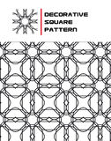 Decorative Square Pattern. A Seamless Decorative Square Pattern Royalty Free Stock Photos