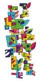 Decorative squares Stock Image