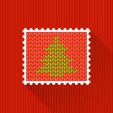Decorative stamp with fir Royalty Free Stock Photos