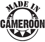 Decorative stamp Made in Cameroon Royalty Free Stock Photo