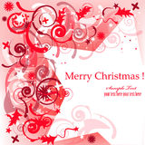 Decorative star 3. Festive Christmas postcard with red decorative star Royalty Free Stock Photo