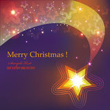 Decorative star 4. Festive Christmas postcard with shining decorative star Royalty Free Stock Images