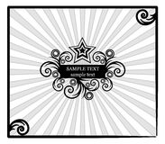 Decorative star-frame with spiral elements Royalty Free Stock Images