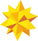 Decorative star icon, isometric 3d style Royalty Free Stock Photo
