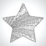 Decorative star isolated on wight bacground Royalty Free Stock Photo